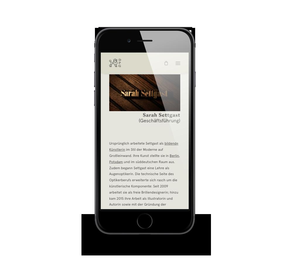 Umsetzung Website und Online-Shop mit Wordpress/Woocommerce für DPG