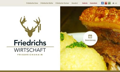 Wordpress-Webdesign und Reservierungssystem für das Berliner Restaurant Friedrichs Wirtschaft
