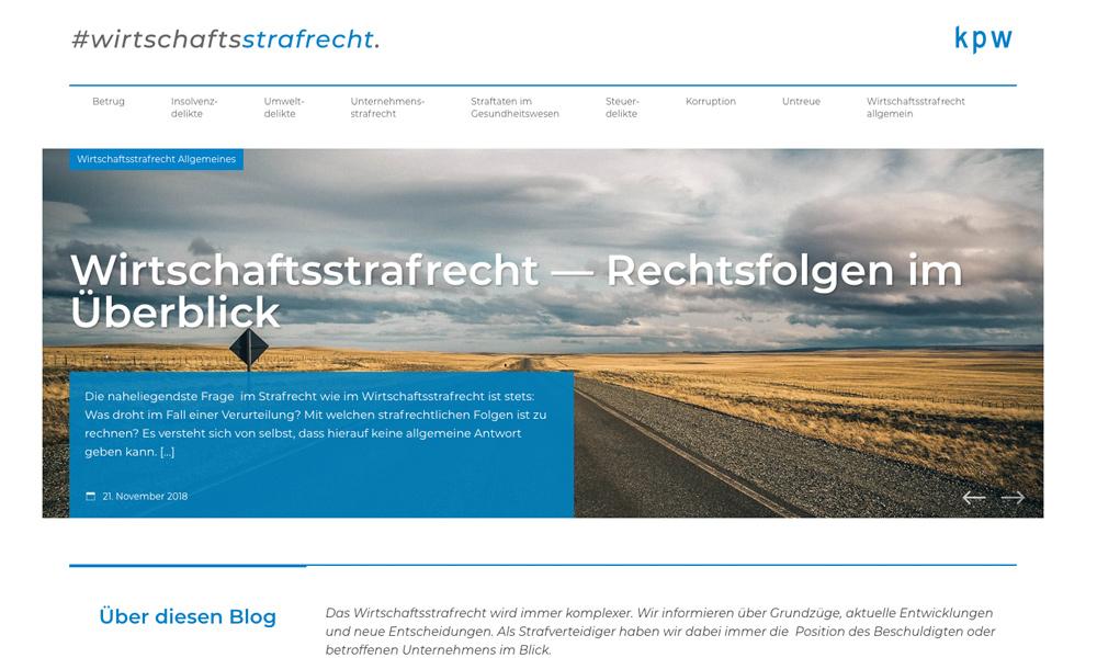 Wordpress-Webdesign und Fotografie für Berliner Anwaltskanzlei kpw
