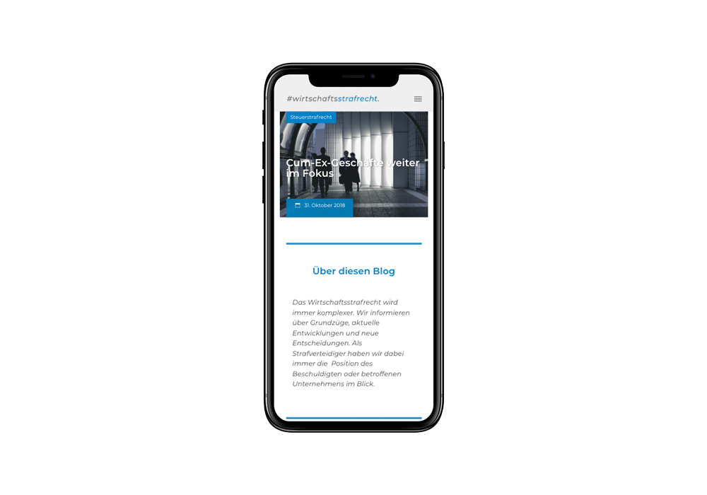 mobiles Webdesign für Berliner Anwaltskanzlei kpw