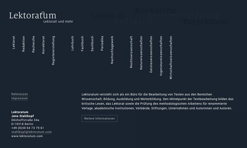 Webdesign für Lektoratum