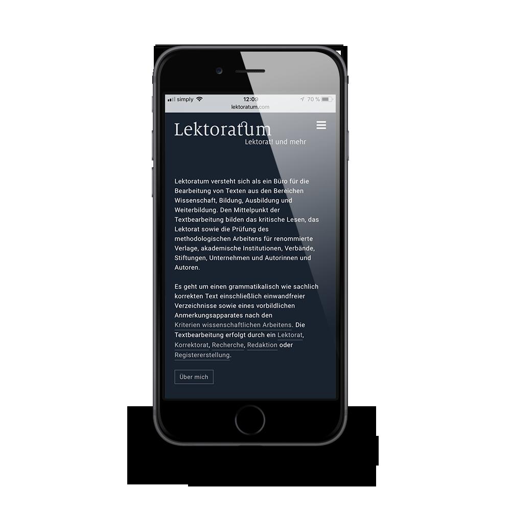 Mobiles Webdesign für Lektoratum