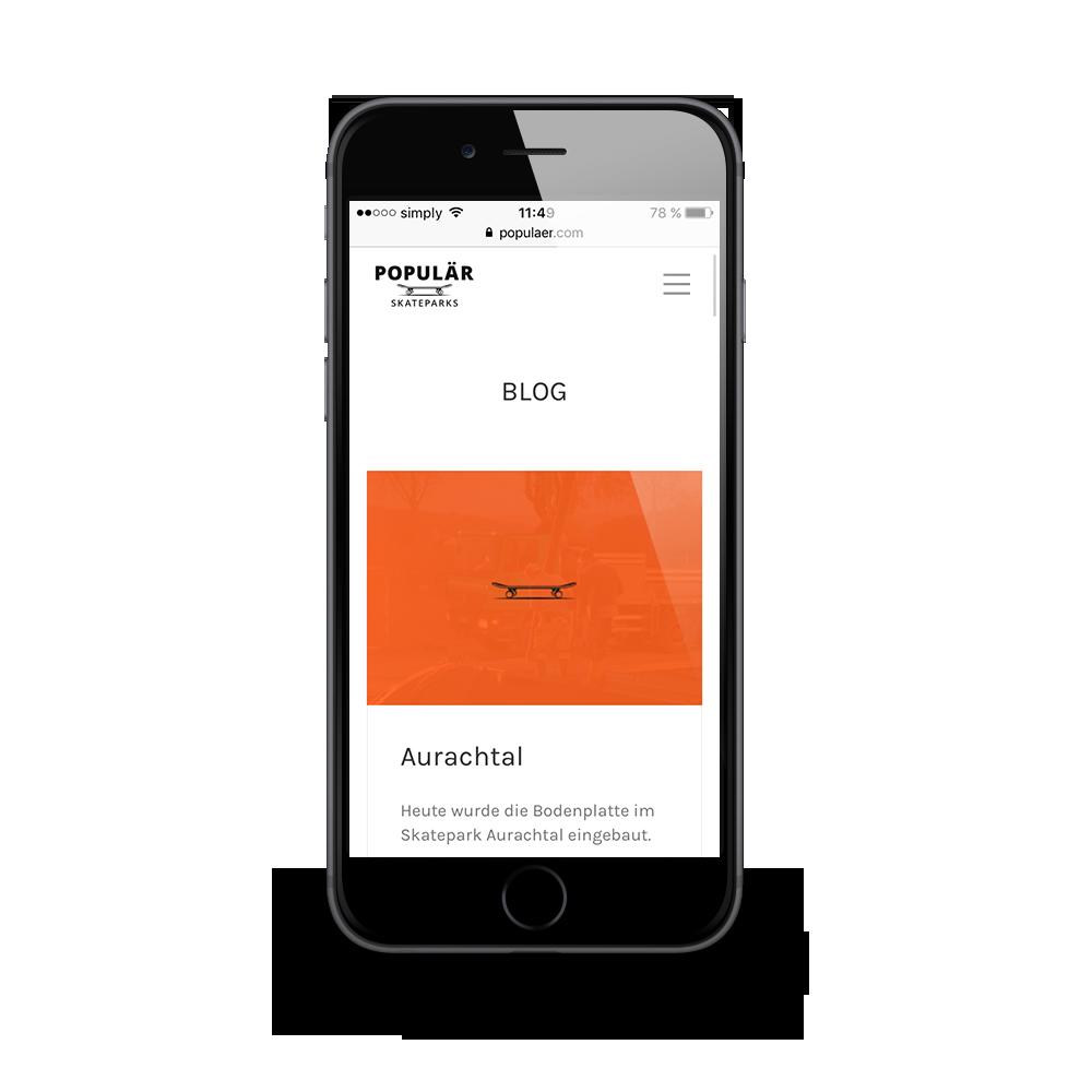 Mobiles Webdesign für POPULÄR