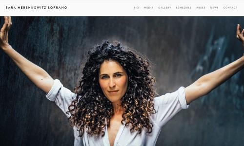Webdesign für für Soprano Sara Hershkowitz